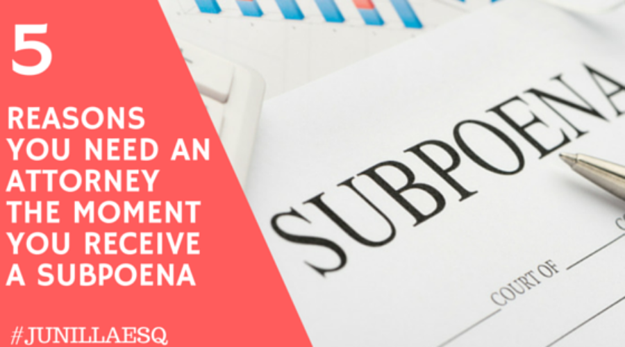 What To Do When You Receive A Subpoena